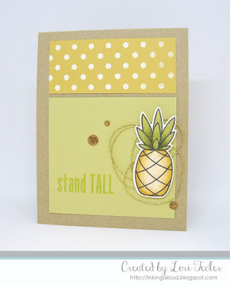 Stand Tall card-designed by Lori Tecler/Inking Aloud-stamps and dies from Paper Smooches