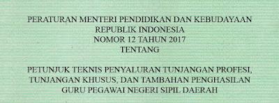 Download Juknis Penyaluran Kriteria Penerima Tunjangan Khusus Guru PNSD 2017