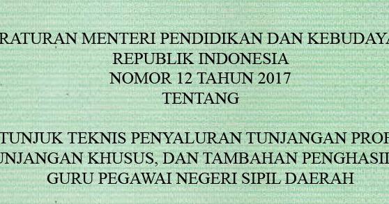 Download Juknis Penyaluran Kriteria Penerima Tunjangan