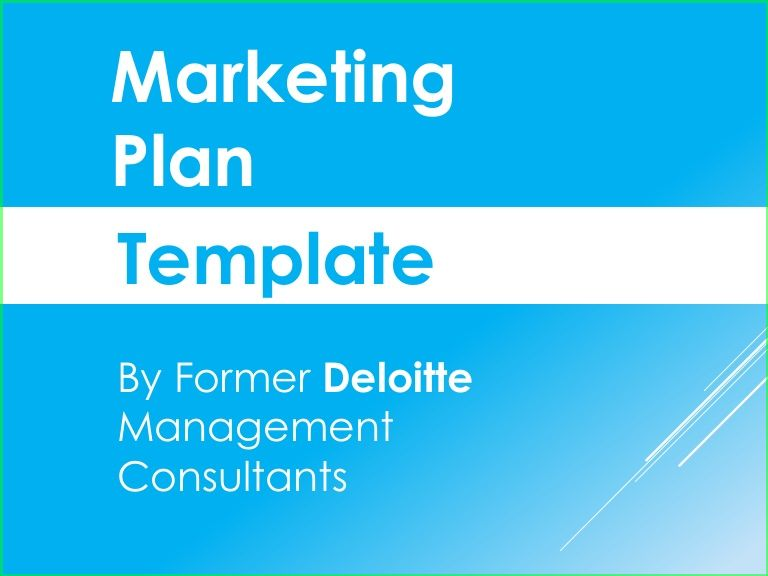 Marketing Plan Powerpoint Template 2 | Resume Business ...