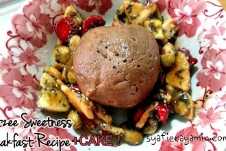 Resepi Frutzee Sweetness Breakfast + Cake !