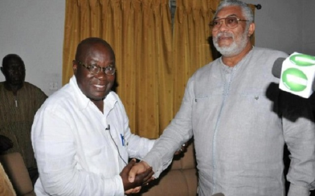 I'll provide competent leadership – Akufo-Addo assures Rawlings