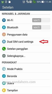 Cara Mengatur Kartu untuk Internet di Android Asus Zenfone 5
