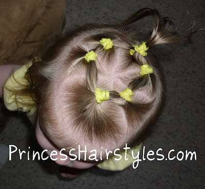 toddler hair with elastics