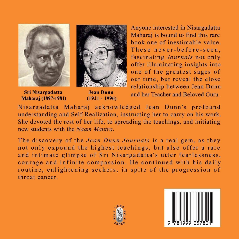 Sri Nisargadatta Maharaj Jean Dunn Journals 1977 1981 Being