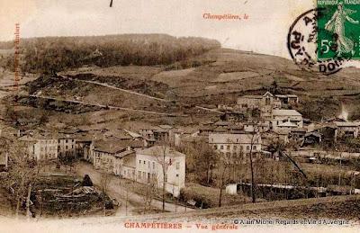 CPA Champétières, Puy-de-Dôme.