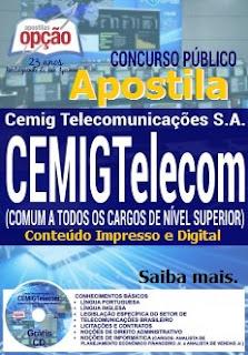 Apostila CEMIG Telecom Belo Horizonte 2016, Analista de Telecomunicações Sênior