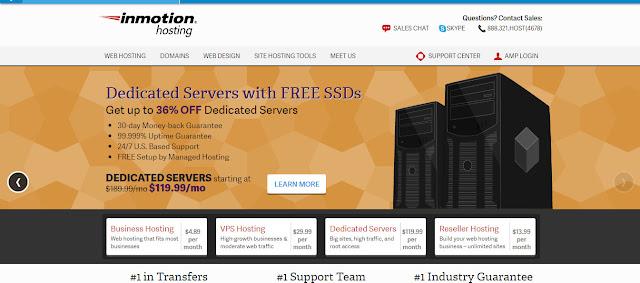 InMotion- web hosting provider for business websites