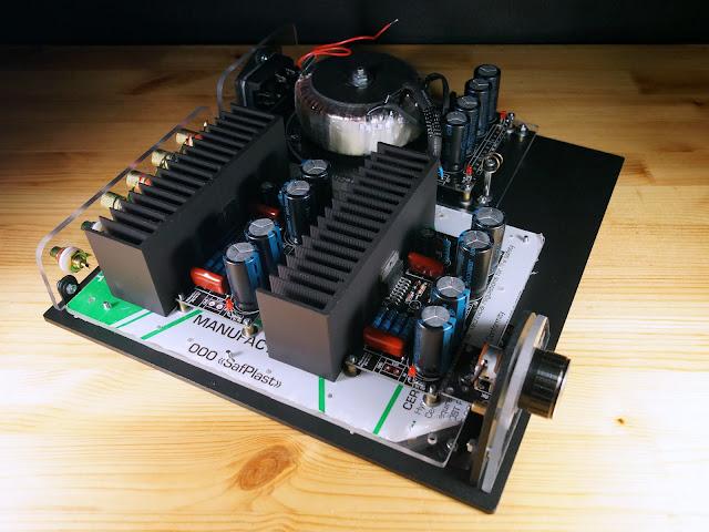 """Усилитель на основе модулей """"Кристалл"""" (на микросхеме TDA7294)"""