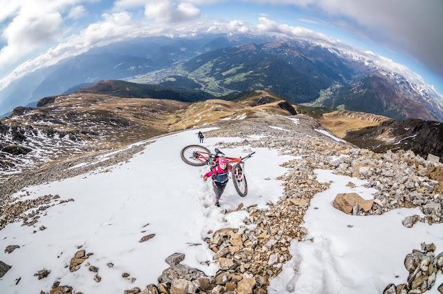 schneelage sterzing weißspitze südtirol bike mtb mountainbike