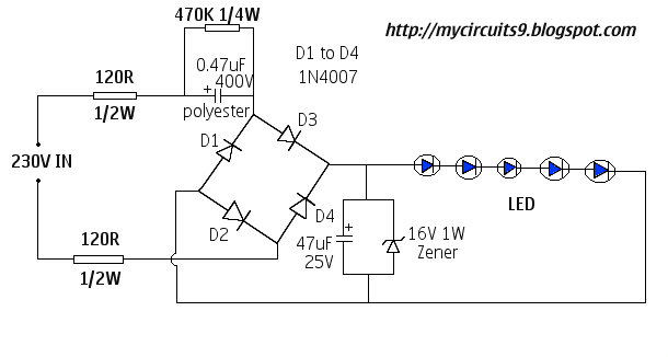 5watt Led Ac Circuits Circuit Diagram Images