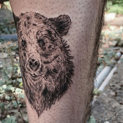 bear cute tattoo