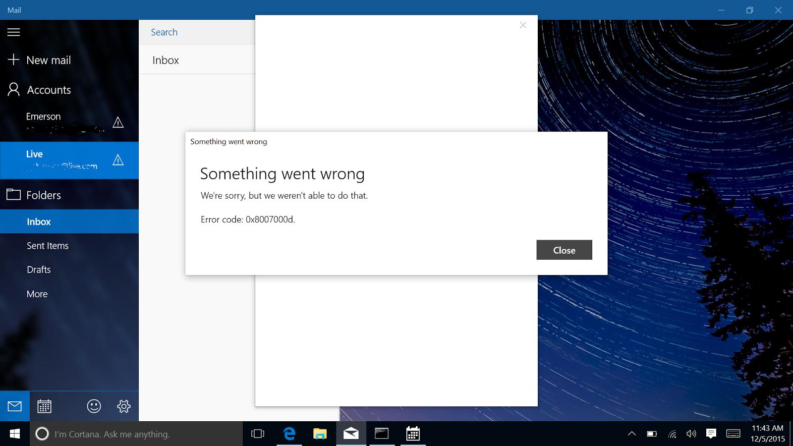 8thString: Windows 10 Mail app