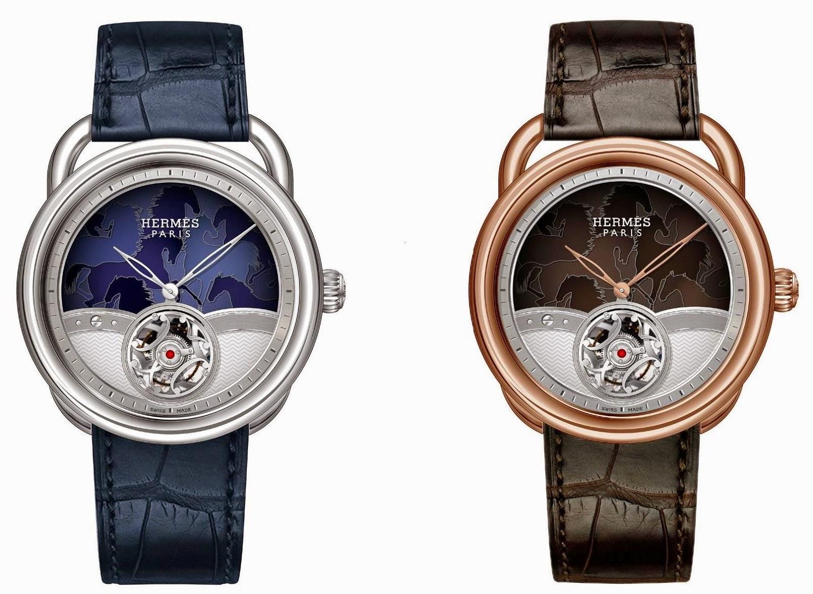 Hermès Arceau Lift Chevaux en camouflage watch with flying tourbillon
