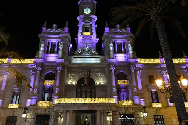Valencia centro, luces de Navidad