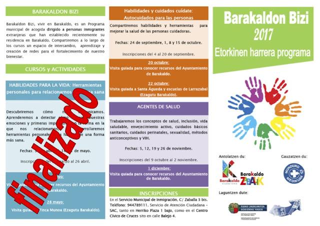 Cartel del programa Barakaldon Bizi