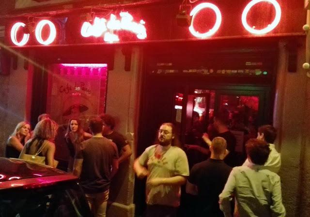 Fachada de Café de París, bar Alonso Martínez