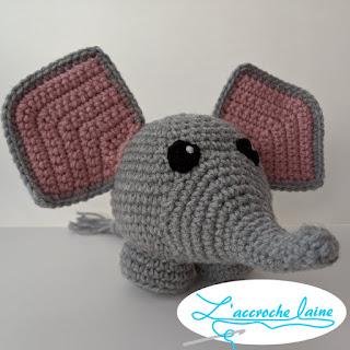 L'accroche laine -Gaétan l'éléphant