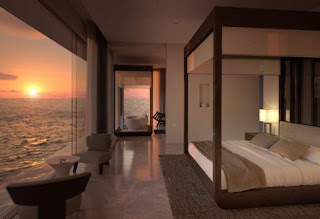 Parte de arriba de la villa Muraka en las Maldivas. Primera villa submarina del mundo. Maldives Rangali Island, tendrá la primera habitación de hotel submarina de las Maldivas.