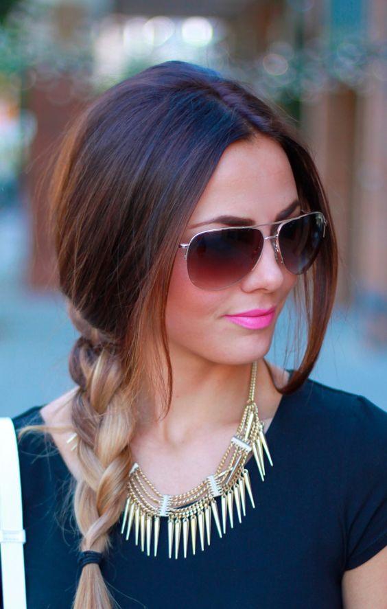 La moda en tu cabello Cortes de pelo 2016 con Mechas californianas