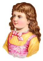 girl child victorian image clipart digital download antique stock