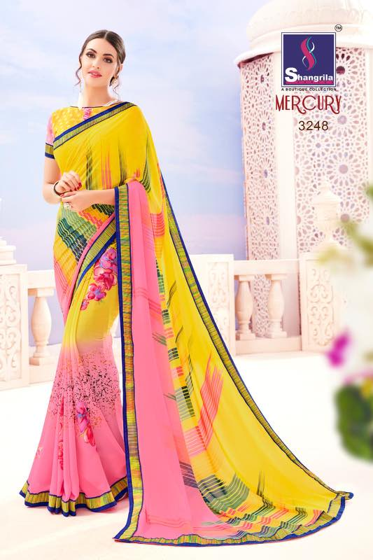 Mercury – New Arrival Style Georgette Printed Saree Buy Online