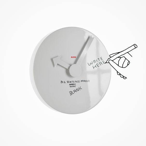 24h sentence Maker wall clock