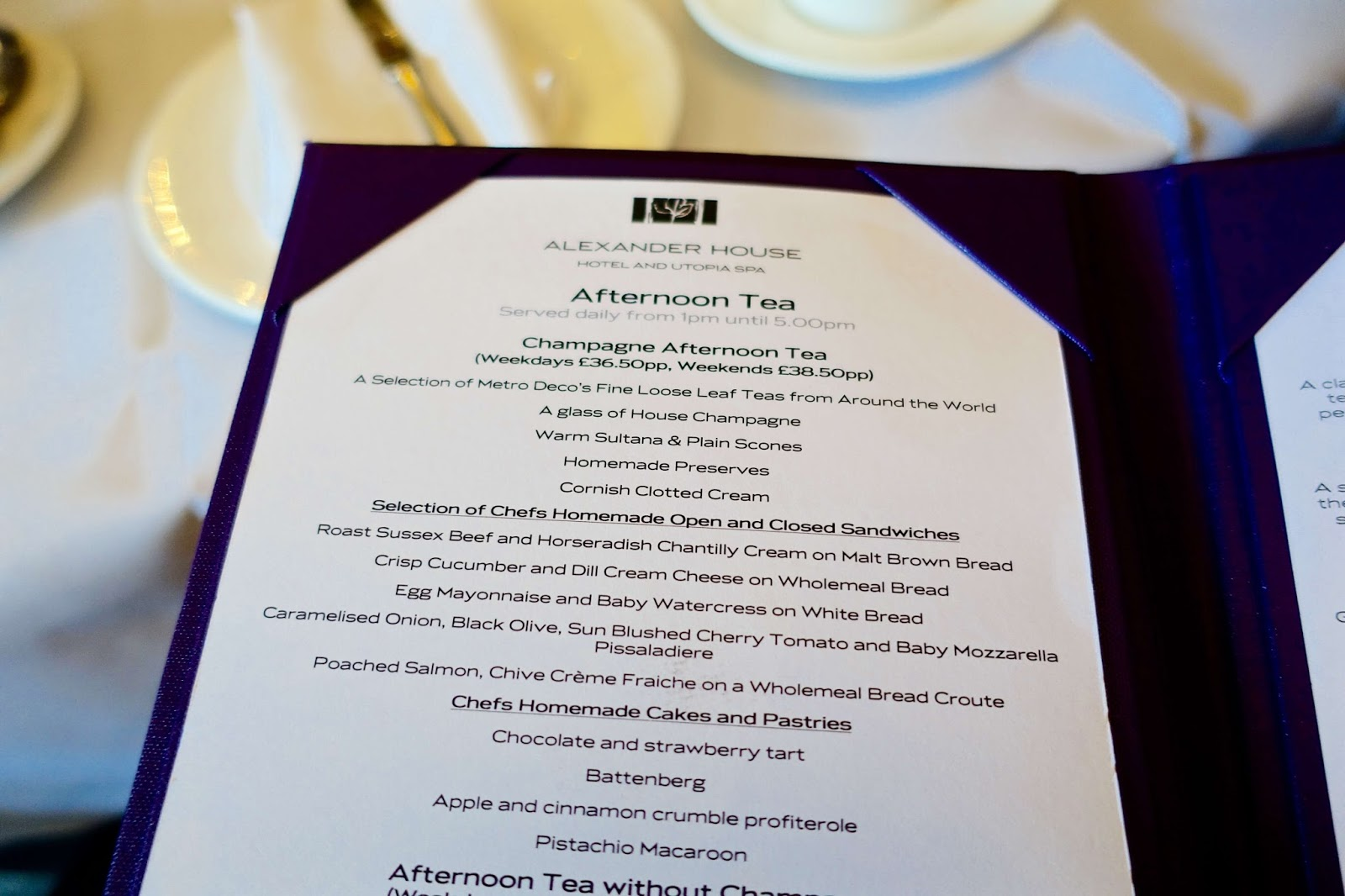 afternoon tea menu alexander house hotel