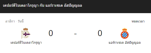 แทงบอล ไฮไลท์ เหตุการณ์การแข่งขัน ลา คอรุนญ่า vs แอสปัญญ่อล