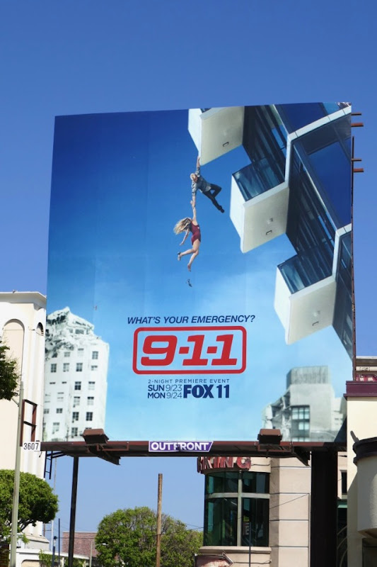 911 season 2 balcony billboard