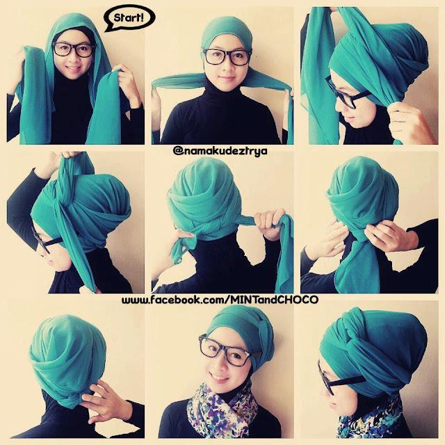29 Kumpulan Tutorial Hijab Pashmina Lecek Gratis Tutorial Hijab