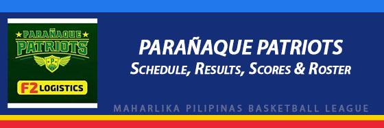 MPBL: Parañaque Patriots Schedule, Results, Scores, Roster