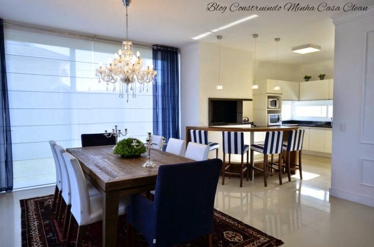 Sala De Jantar Na Cozinha ~  na sala de jantar, plafon e pendentes pequenos de cristais na cozinha