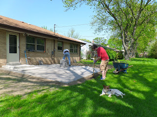 My brother and father-in-law help put the patio together