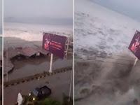 Tsunami Terjang Kota Palu Pasca Gempa 7,7 SR
