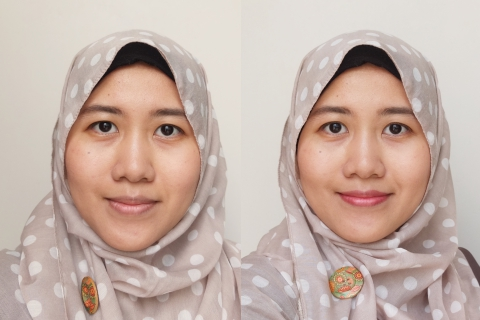 Moodmatcher lipstick before after