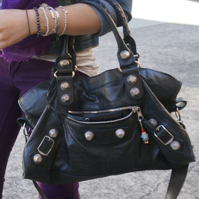 Balenciaga part time in black 2010 with SGH GSH G21 hardware studs | AwayFromTheBlue