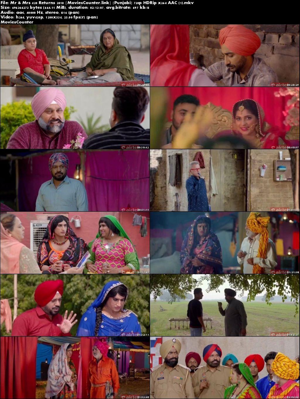 Screen Shots Mr & Mrs 420 Returns 2018 Punjabi Movie HD 720p