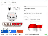 PES 2017 PTE Patch Selector 3.1