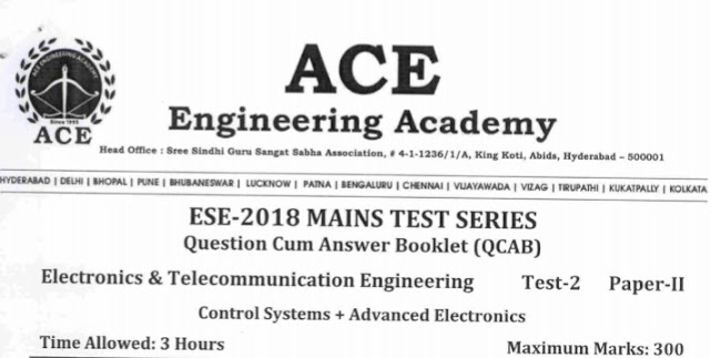 ESE PAPER-II E&T TEST-2 [ACE IACADEMY PUBLCATION]