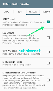 Cara setting kpn tunnel ultimate Axis Hura Hura unlimited dan full speed