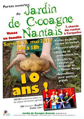 Affiche Jardins de Cocagne nantais à Carquefou