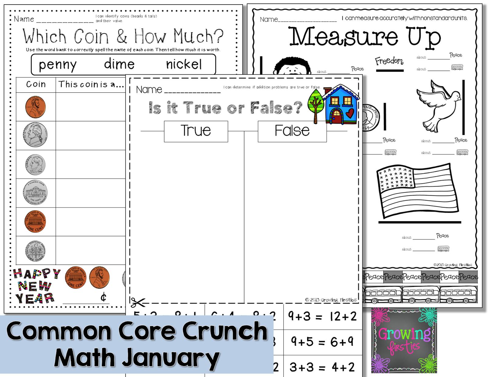 January Math No Prep Printables