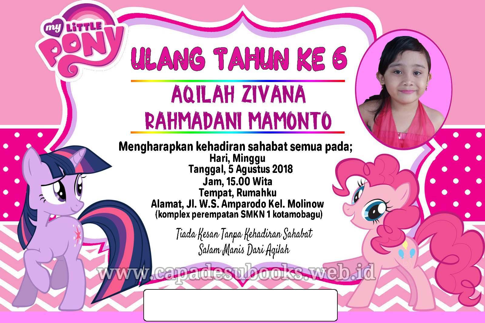 Contoh Undangan My Little Pony