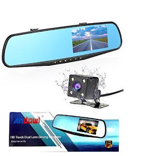 specchio retrovisore auto dvr telecamera retromarcia andowl