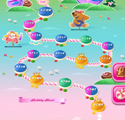 Candy Crush Saga level 5706-5720