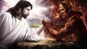 JESUS AND SATAN WRESTLING!