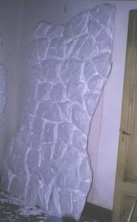 talla de piedra en telgopor, telgopor esculturas, piedras en poliestireno expandido