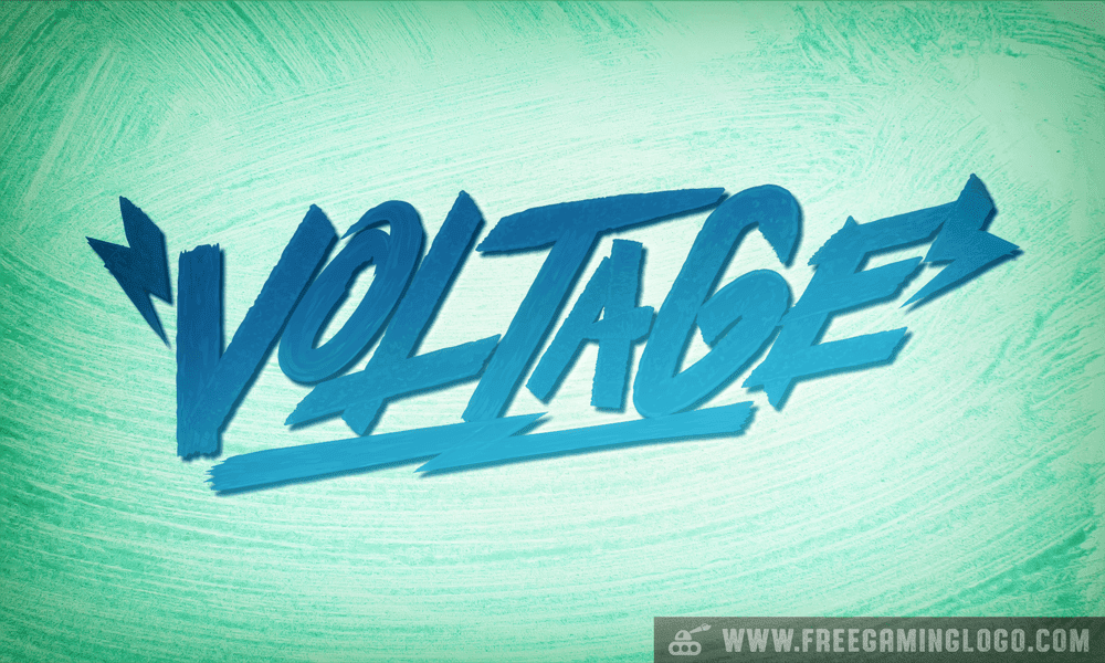 Voltage hand lettering signature design