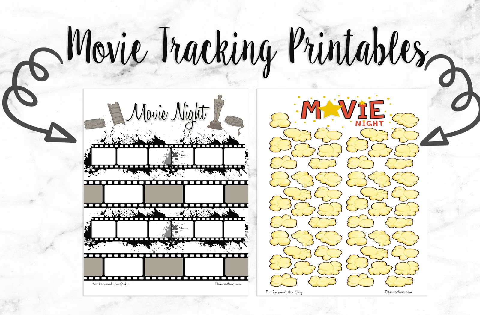 Malena Haas Freebie Friday Movie Tracking Printables For Your